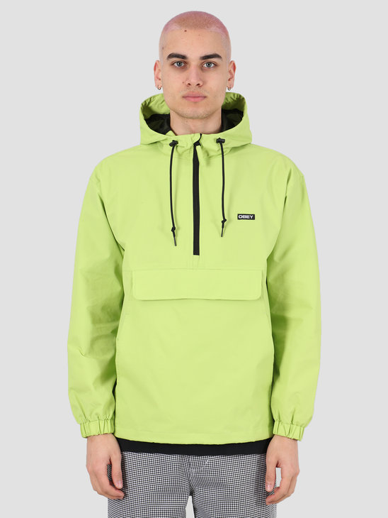 Obey Recess ii anorak Key lime 121800420 KEY