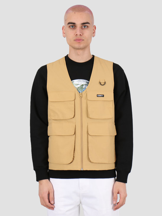 Obey Undertone vest Almond 121810011 ALM