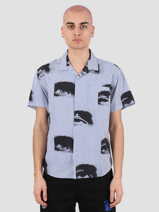 Obey Sees all woven Ultra marine multi 181210283 UMR