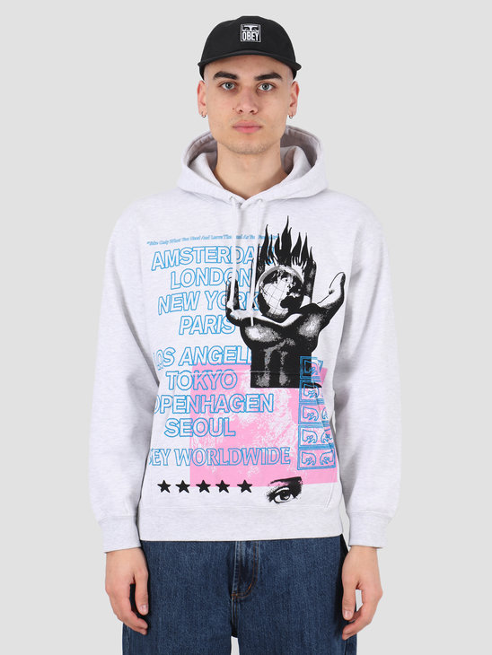 Obey Obey our planet Fleece Heather ash 112842210 HAS