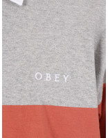 Obey Obey Automation rugby polo ls Heather ash multi 131040029 HAS