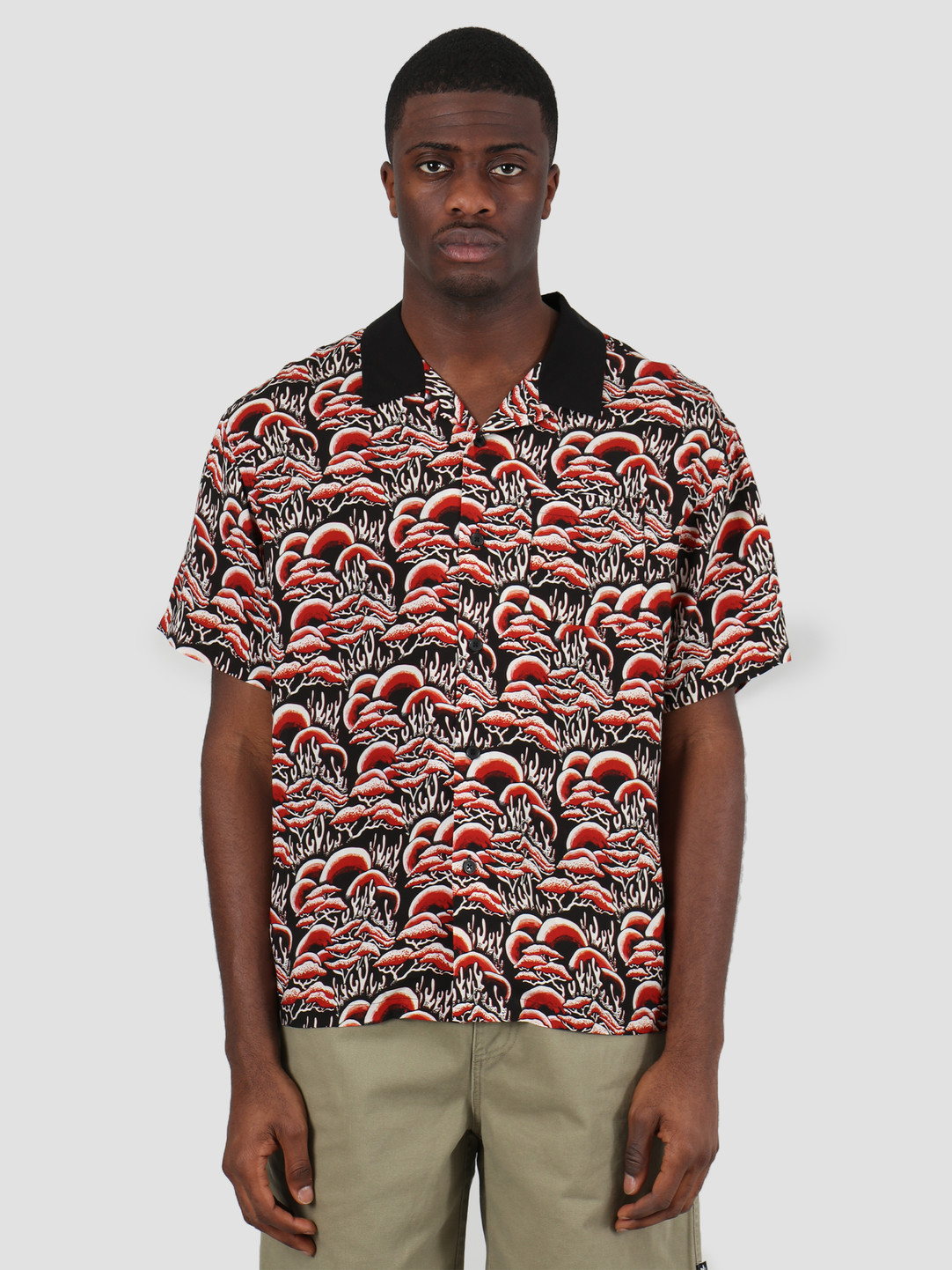 Stussy Stussy Coral Pattern Shirt Red 1110105