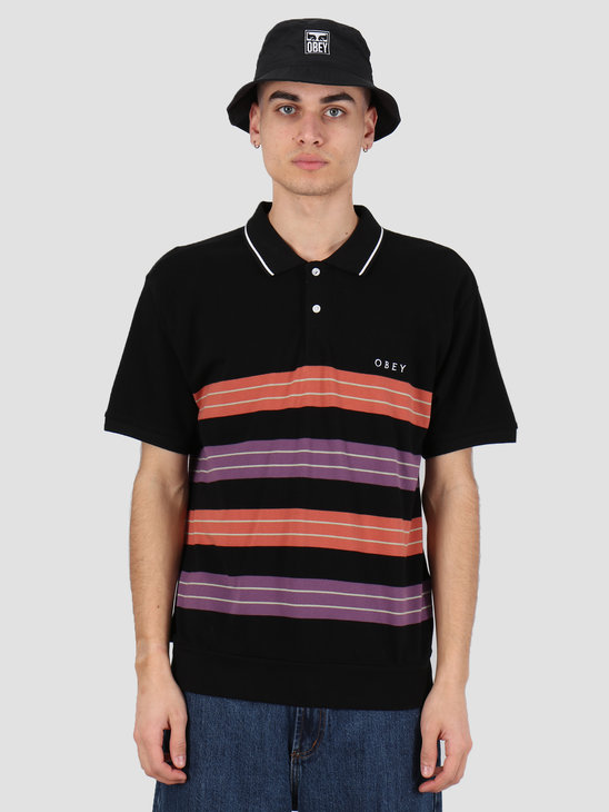 Obey Casa polo ss Black multi 131090051 BKM