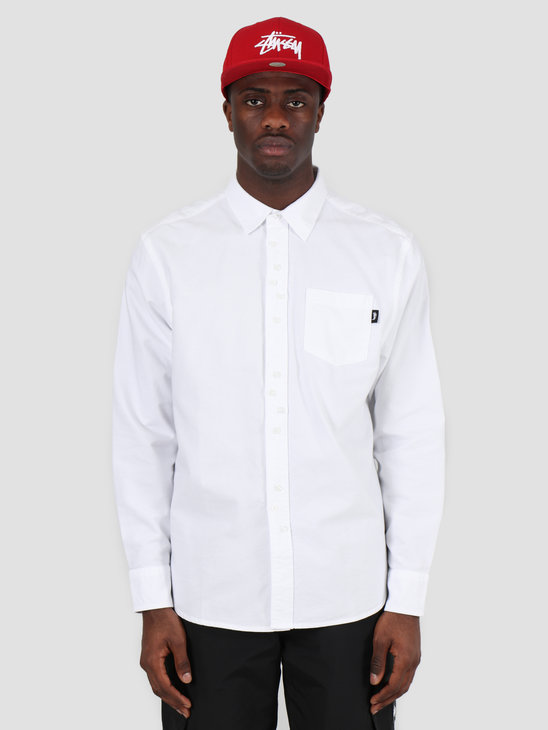 Stussy Crazy Button Oxford Shirt White 1110097