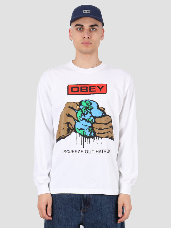 Obey Squeeze out hatred T-shirt White 167102192 WHT