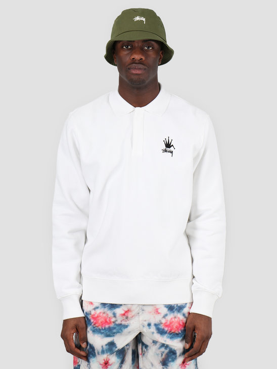 Stussy Polo Fleece White 118362