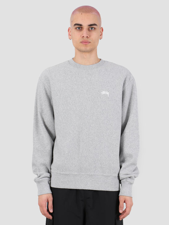 Stussy Stussy Logo Crew Grey Heather 118363