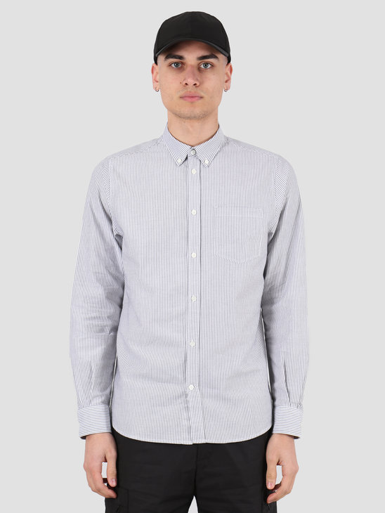 Norse Projects Anton Oxford Shirt Magnet Grey Stripe N40-0456-1073