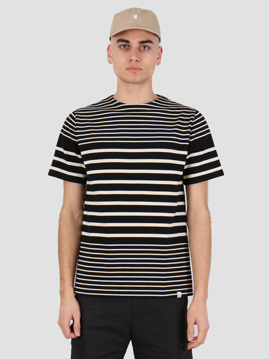 Norse Projects Godtfred Classic Compact T-shirt Black Stripe N01-0445-9016