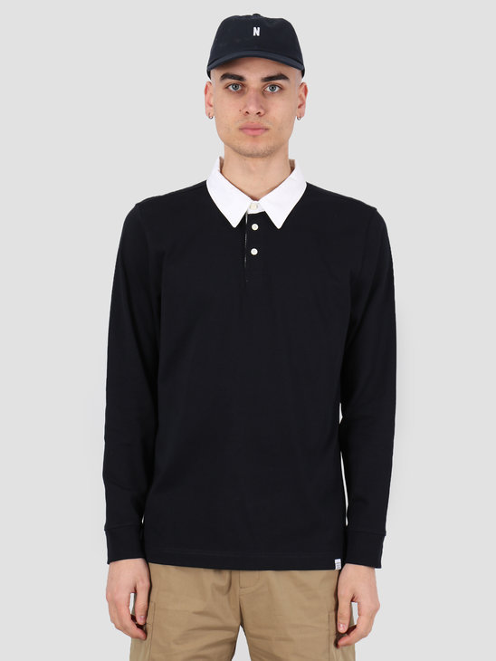 Norse Projects Ruben Polo Dark Navy  N10-0170-7004