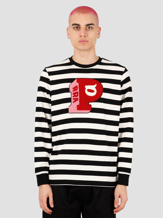 by Parra Block P Striped Longsleeve T-Shirt Stripes 43640