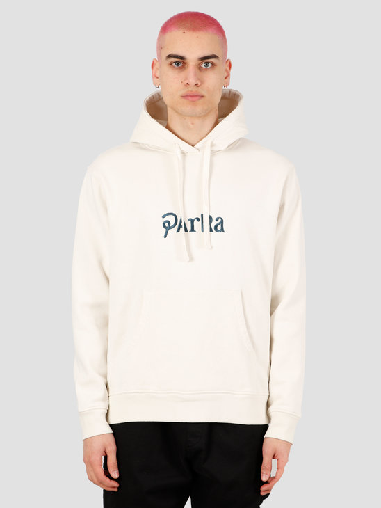 by Parra Motorcycle Guy Hooded Sweatshirt Off White 43660