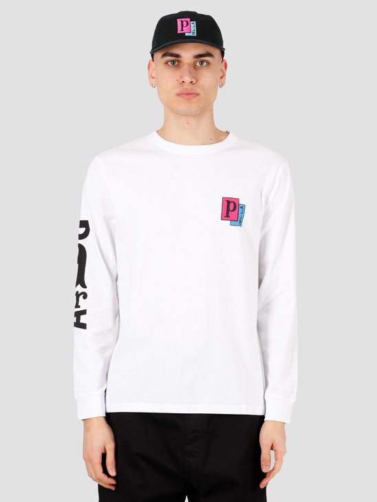 by Parra Twisted Woman Longsleeve T-Shirt White 43630