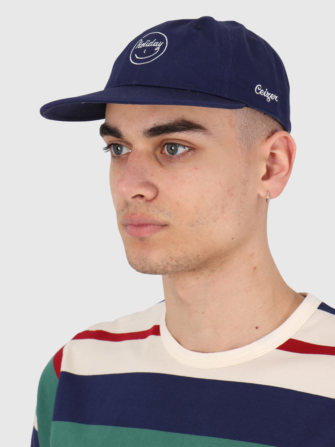Ceizer Ceizer Holiday Embroidery 6 Panels Cap Navy 2020-017