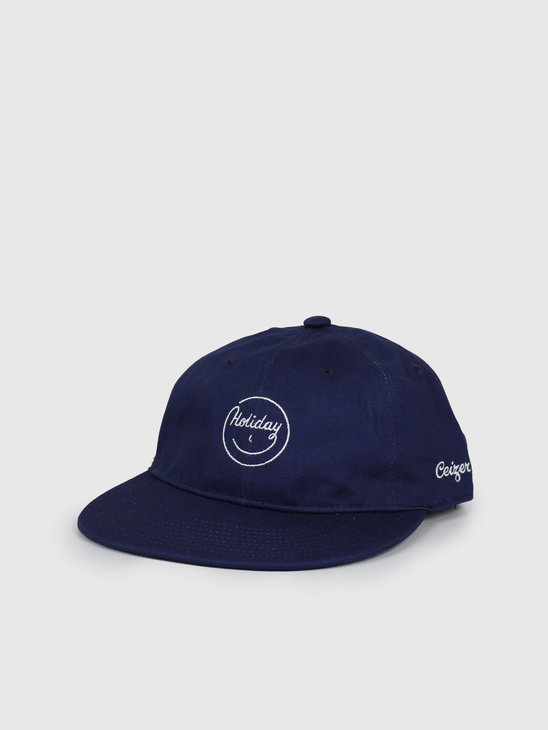 Ceizer Holiday Embroidery 6 Panels Cap Navy 2020-017