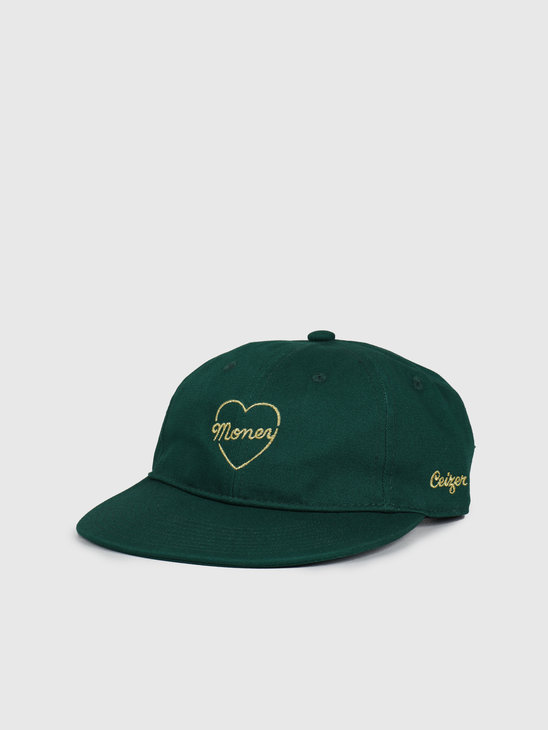 Ceizer Money Gold Embroidery 6 Panels Cap Green 2020-018