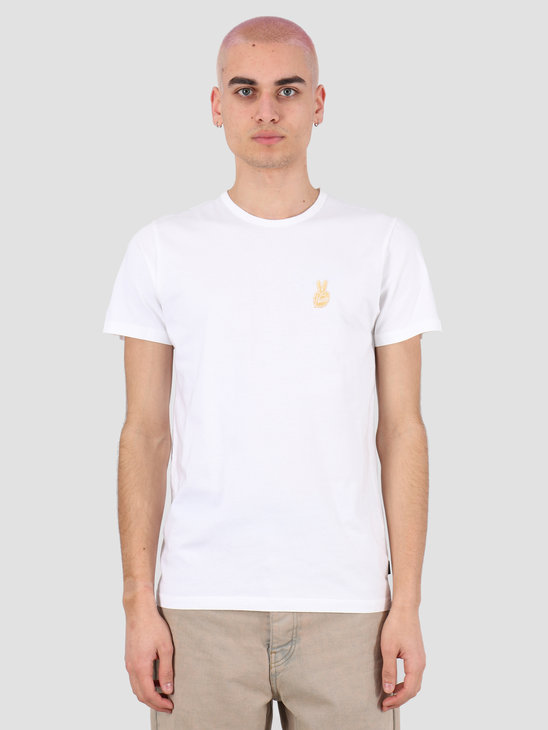 Ceizer Peace Gold Embroidery T-Shirt White 2020-015