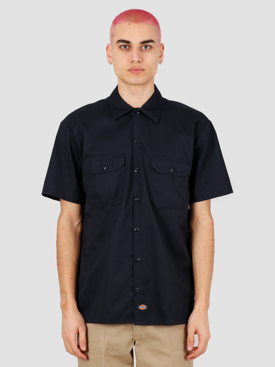 Dickies Short Sleeve Work Shirt Dark Navy DK001574DNX1