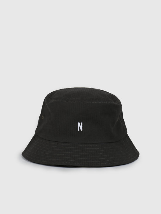 Norse Projects Seersucker Bucket Hat Beech Green N80-0024-8109