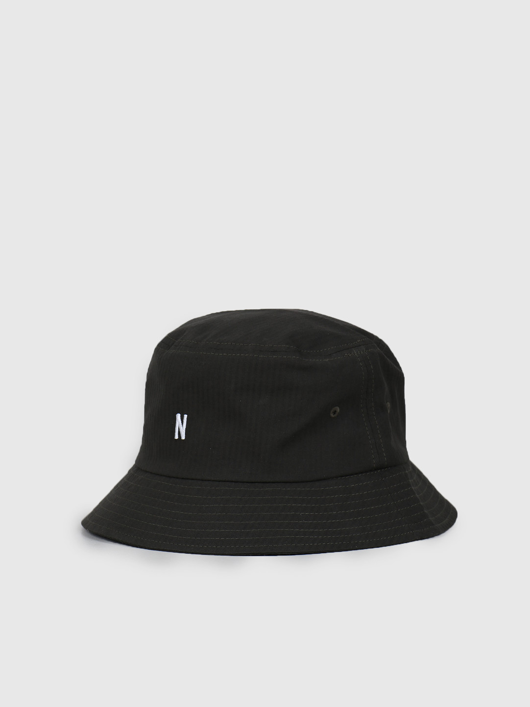 Norse Projects Norse Projects Seersucker Bucket Hat Beech Green N80-0024-8109