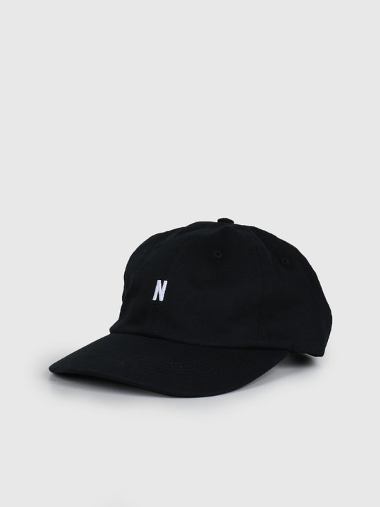 Norse Projects Twill Sports Cap Black N80-0001-9999