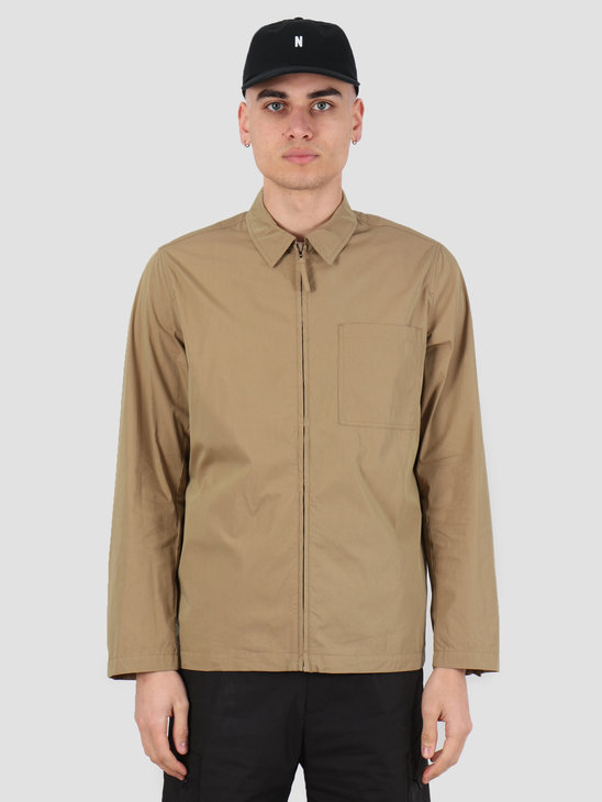 Norse Projects Jens Zip Packable Jacket Utility Khaki N50-0157-0966