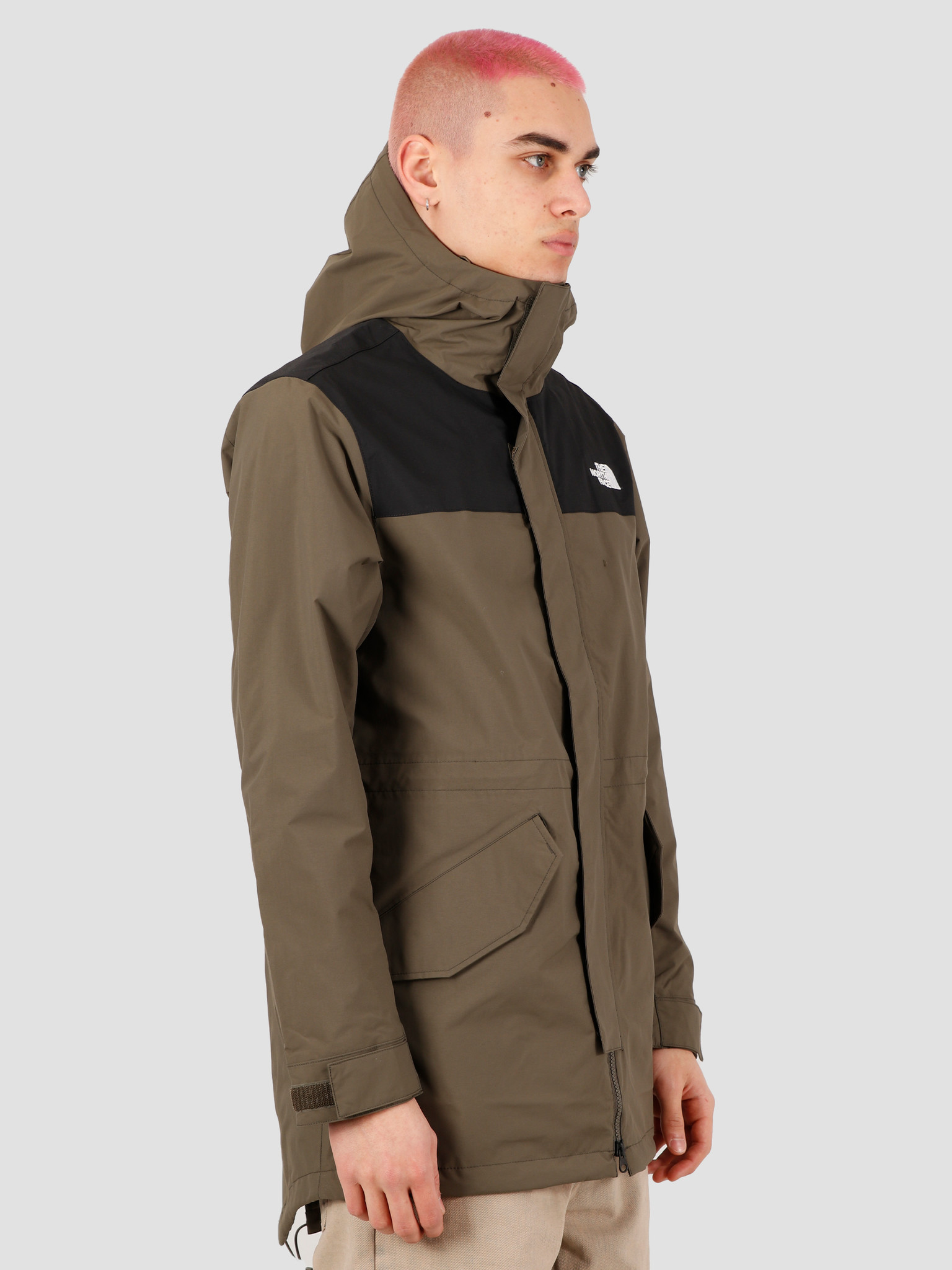 The North Face The North Face City Breeze Rain Parka New Taupe Green TNF Black NF0A4ALMBQW1