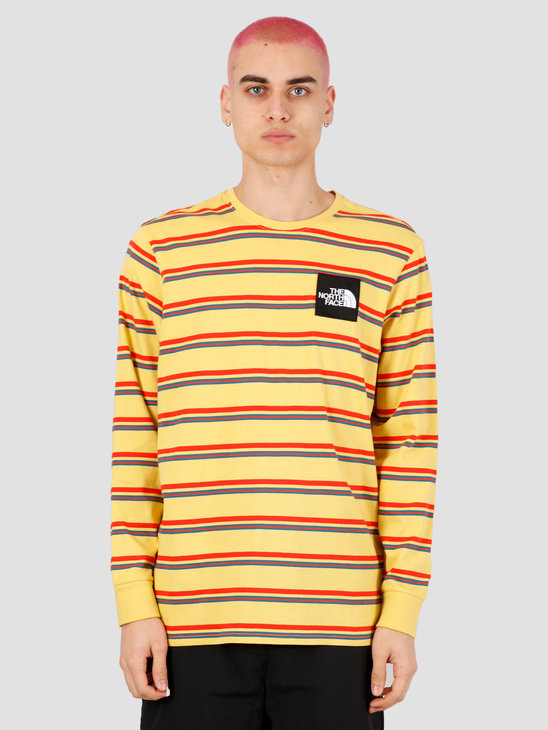The North Face Boruda Longsleeve Tee Bamboo Yellow Stripe NF0A4C9INU41
