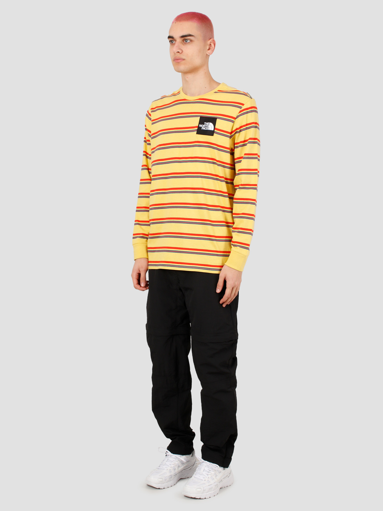 The North Face The North Face Boruda Longsleeve Tee Bamboo Yellow Stripe NF0A4C9INU41