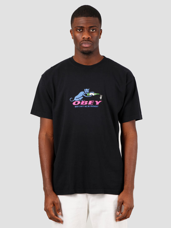 Obey Why can't we be friends T-shirt Off black 166912208 OBK