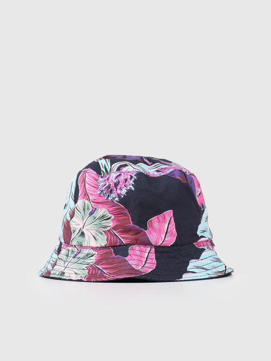 HUF Paraiso Bucket Hat Navy Blazer HT00491