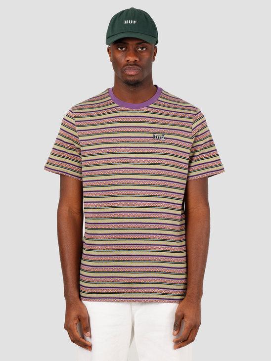 HUF Allen Short Sleeve Knit Top Grape KN00164