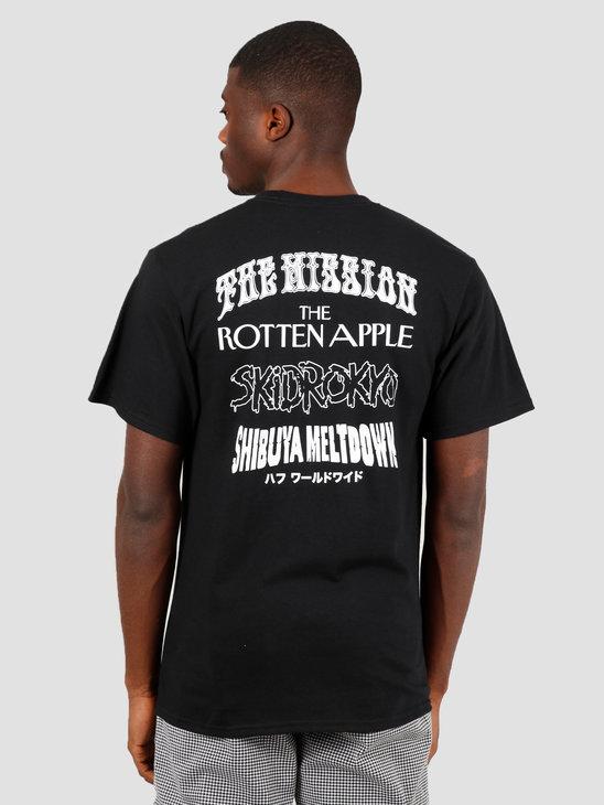 HUF Hoods Short T-shirt Black TS01012