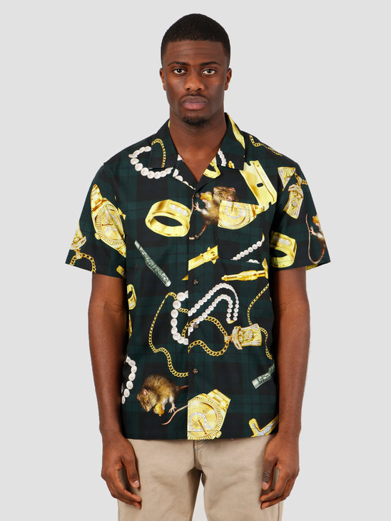 HUF Tenderloin Woven Short Sleeve Shirt Black BU00069
