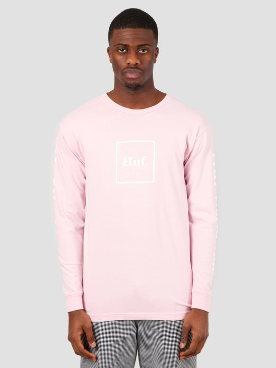 HUF Domestic Longsleeve Tee Coral Pink TS00146