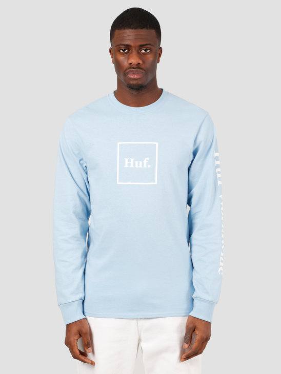 HUF Domestic Longsleeve Tee Greek Blu TS00146