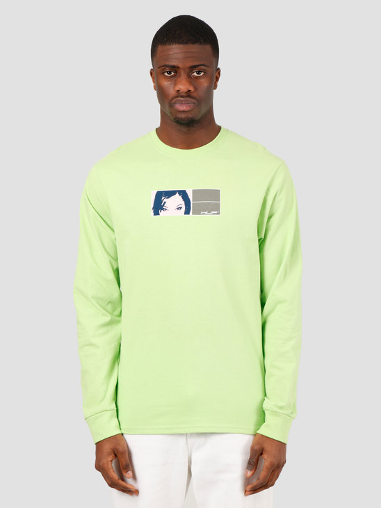 HUF Wonderland Longsleeve Tee Hot Lime TS01003