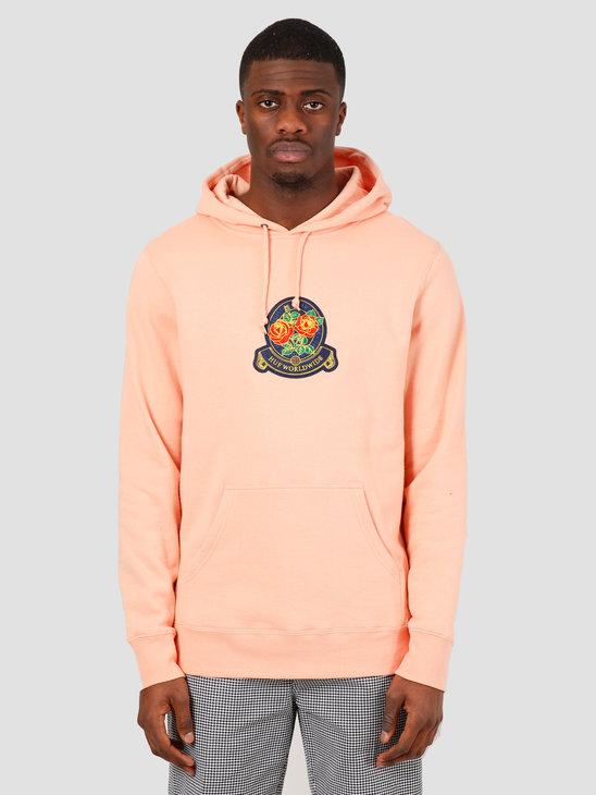 HUF Tenderloin Rose Crest Pullover Hoodie Coral Pink PF00211