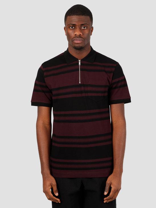 Wemoto Ace Polo Shirt Black Burgundy 151.202-136