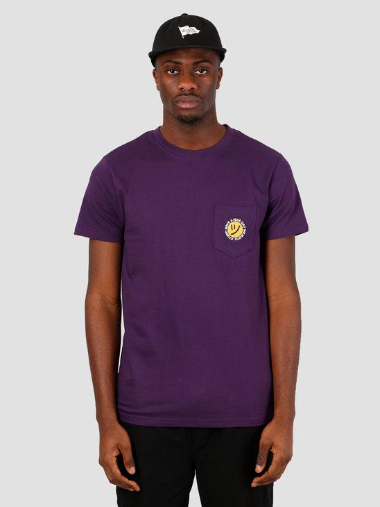 Wemoto Day Tee T-Shirt Purple 151.159-434
