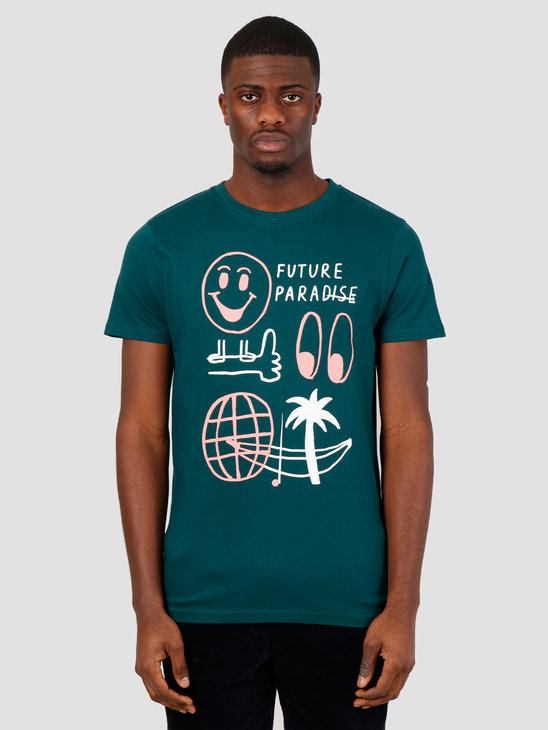 Wemoto Flp Tee T-Shirt Dark Green 151.161-639