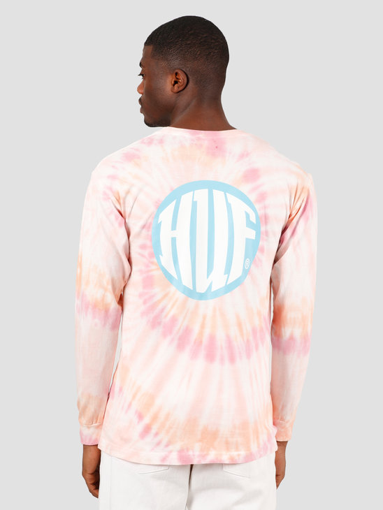 HUF High Definition Longsleeve Tee Coral Pink TS00990