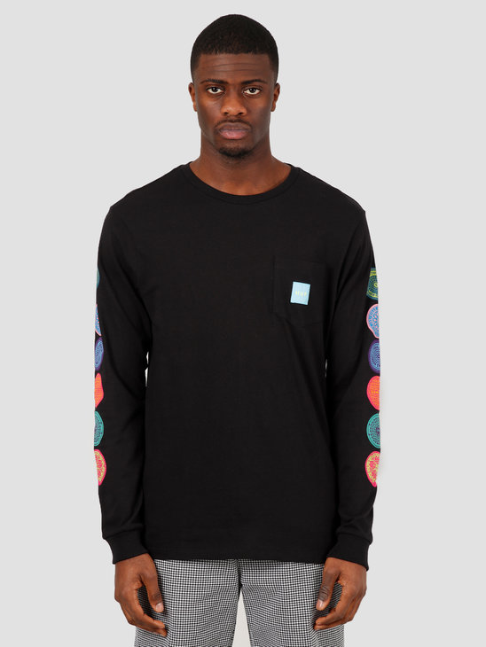 HUF Sewer Longsleeve Pocket Tee Black TS00991