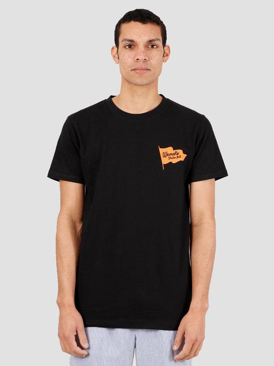Wemoto Flag Studio Tee T-Shirt Black 151.138-100
