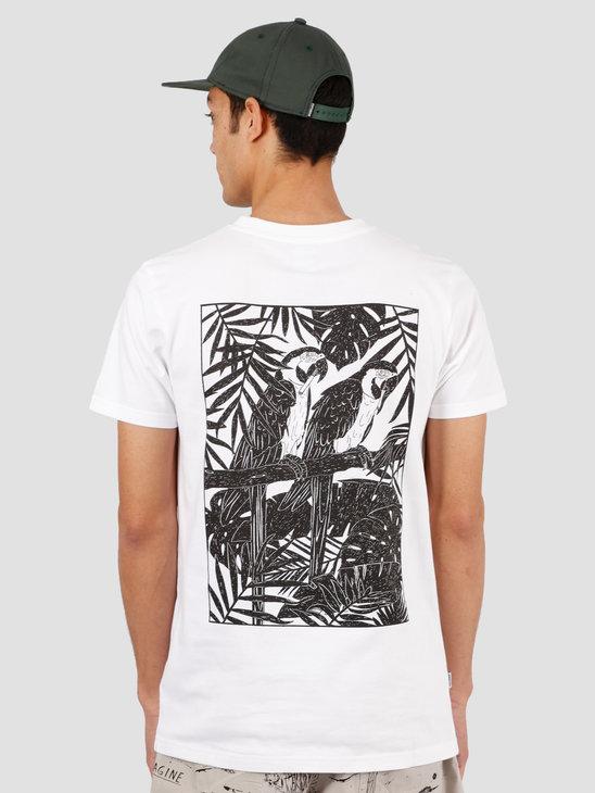 Wemoto Parrots Tee T-Shirt White 151.101-200