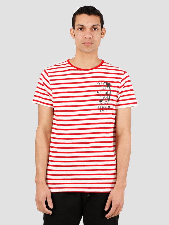 Wemoto Tartle T-Shirt Off White Red 151.252-239