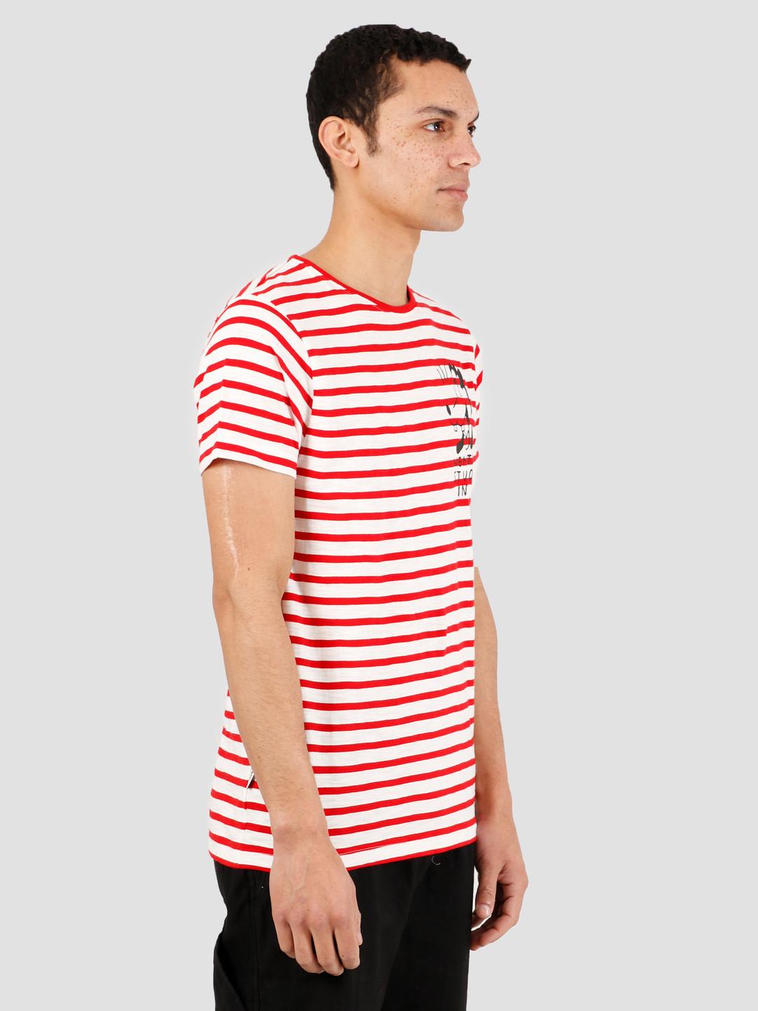 Wemoto Wemoto Tartle T-Shirt Off White Red 151.252-239