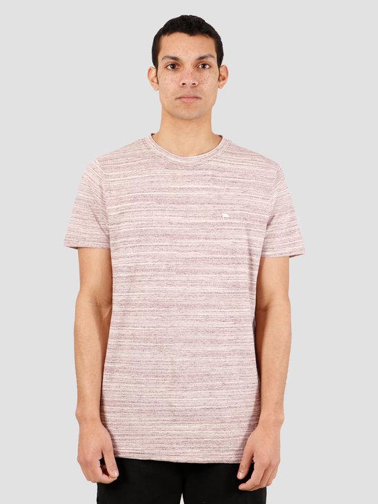 Wemoto Warren Mel T-Shirt Burgundy Melange 151.227-518