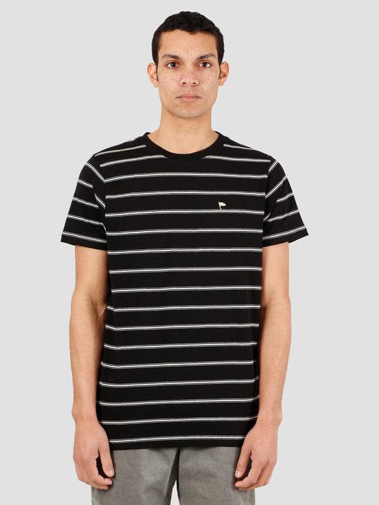 Wemoto Warren Stripe T-Shirt Black Sand Melange 151.223-137