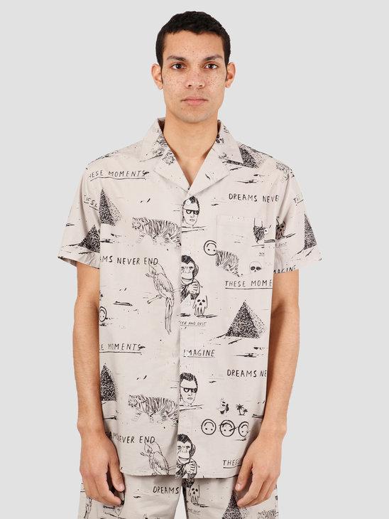Wemoto Robinson Shirt Button Up Light Grey 151.305-327